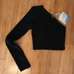 Missguided One Sleeve Crop Top NWOT